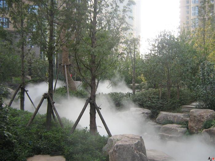 人造雾工程|人造雾系统|冷雾设备|水雾工程